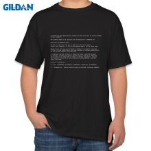 Adult Blue Screen Of Death Geek Nerd 100% cotton T-shirt cotton men T-shirt