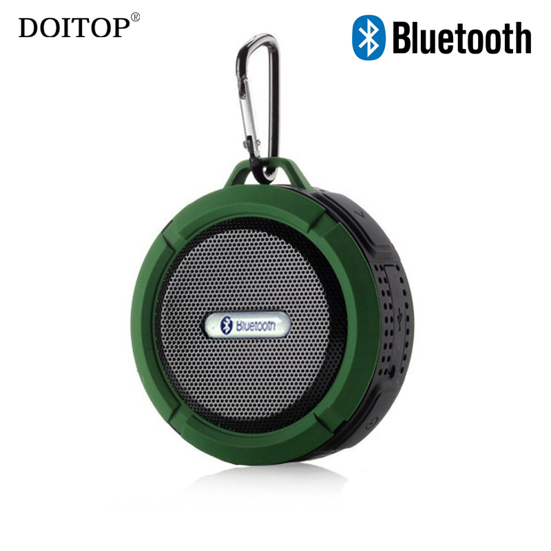 DOITOP Portable Outdoor Sport Wireless Bluetooth Speaker Waterproof Handsfree Call Loudspeaker with Sucker Support FM TF Card