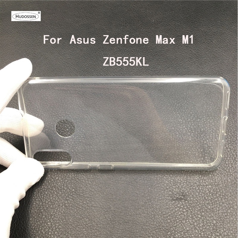 HUDOSSEN For Asus Zenfone Max M1 ZB555KL Case Silicone Ultra-thin Transparent Soft TPU Slim Case For ASUS ZB555KL Protective