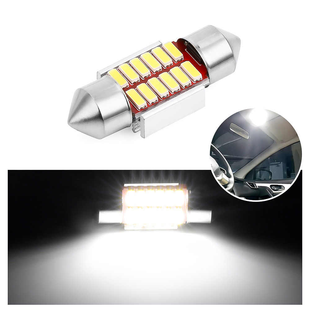 Auto Interior Doom Lamp Festoon 31mm 36mm 39mm 41mm LED Bulb C5W C10W Super Bright 4014 SMD Canbus Error Free Car Styling Light