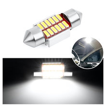 Auto Interior Doom Lampu Festoon 31 Mm 36 Mm 39 Mm 41 Mm Bohlam LED C5W C10W Super Bright 4014 SMD CANBUS Kesalahan Gratis Mobil Styling Lampu(China)