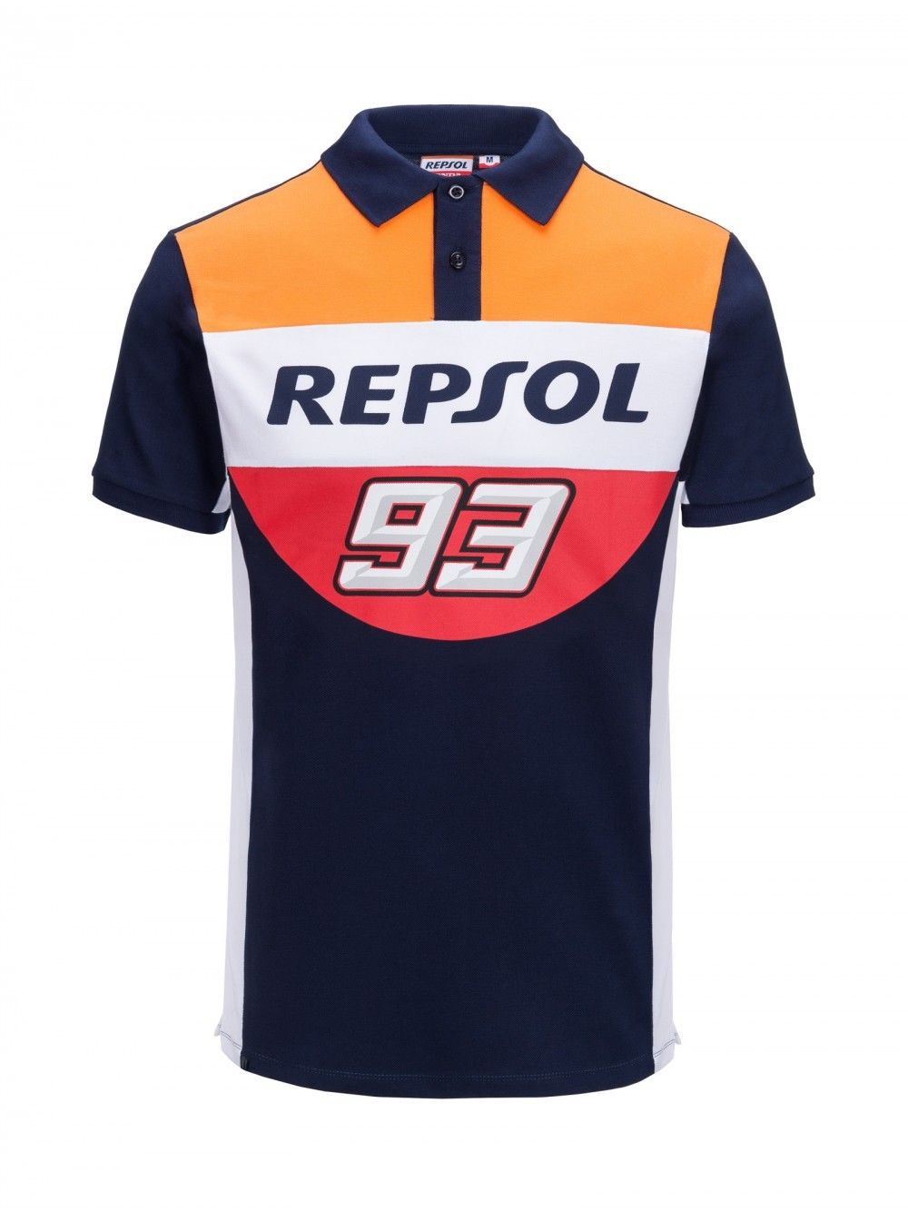 100% Cotton HRC Moto GP Marquez 93 Repsol Polo Shirt Motorcycle ATV Sports Large Ant Racing Polo