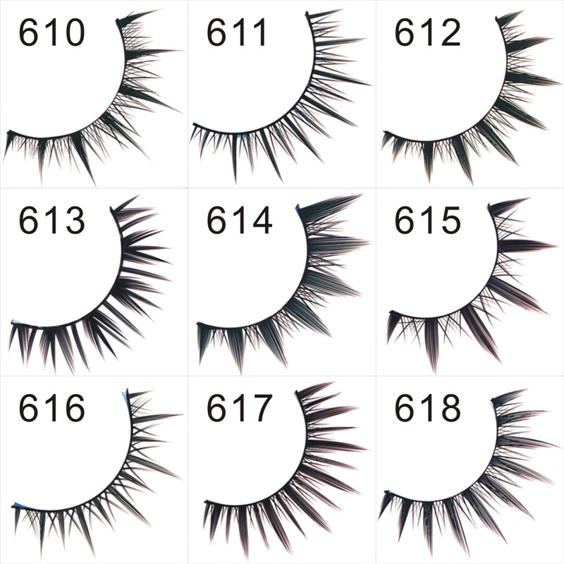 False Eyelashes 610-620 fashion eyelashes extensions high quality lashes single packing fake eye lashes Wholesale freeshipping