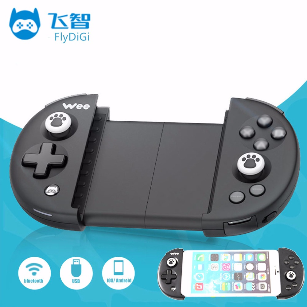 Flydigi Wee inalámbrico Bluetooth 4.0 GamePad controlador remoto juego Gamepads con cable USB para teléfono móvil juego Accesorios