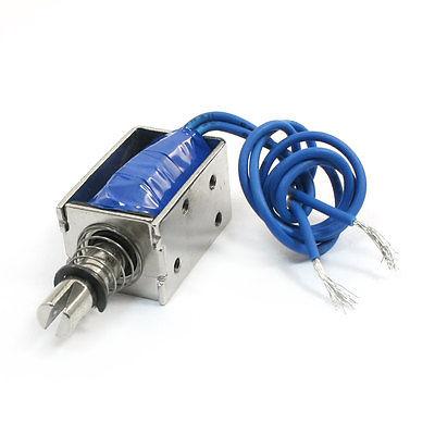 цена на DC 24V/DC12V 6.5mm 6N Open Frame Push Pull Type Electromagnet Solenoid JF-0630B