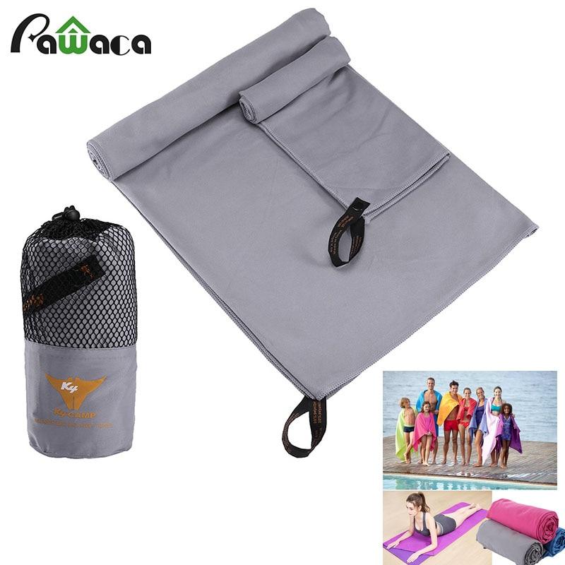 2 PCS/ENSEMBLE voyage en microfibre serviette douce peau à séchage rapide Super absorbant Parfait serviette De Plage pour gym piscine de yoga voyage organisateur