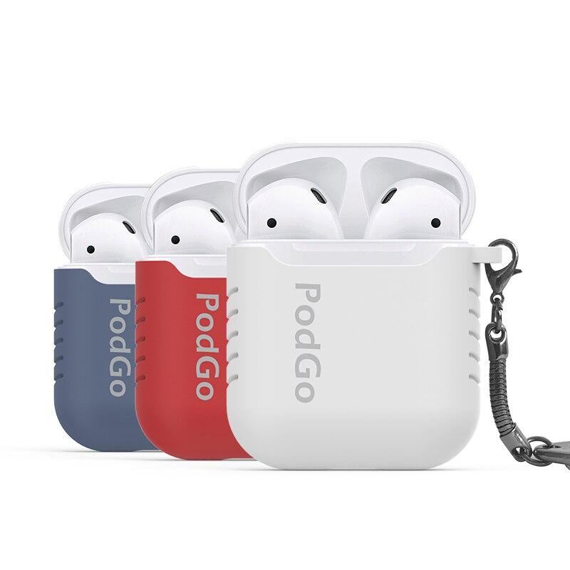 bilder für Silikon Fall Schutzhülle Tasche mit Anti Verloren Kabel Für Apple Airpods Air Schoten Hülse Fundas Zubehör Freies Geschenk