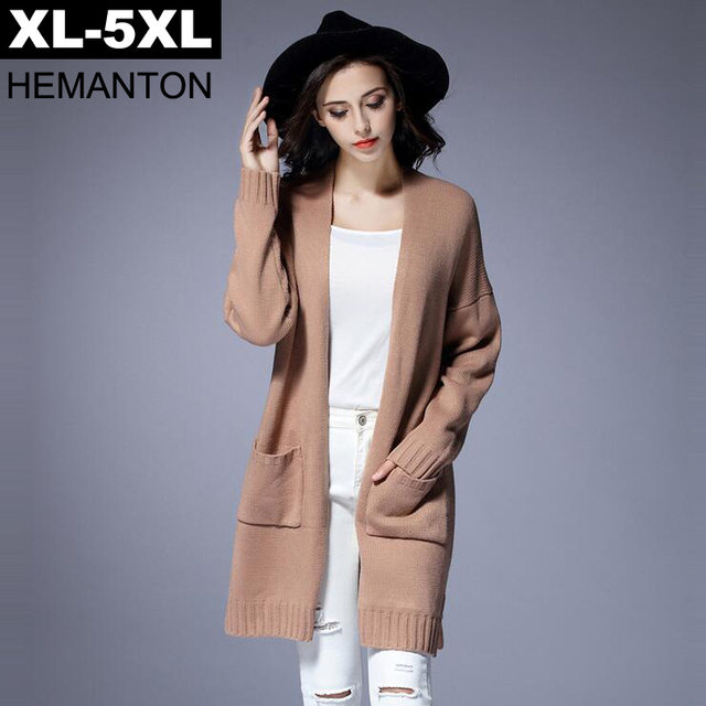 Apricot Women Cardigans Large Size Sweater Coat 2017 Autumn ...