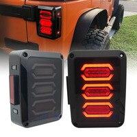 For Jeep wrangler LED Tail Light With Brake Turning Reverse light USA/EU edition reverser brake turn signal LED rear tail light