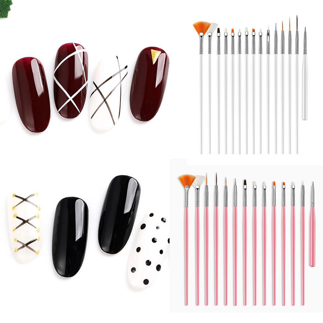 Fashion Nail Art Paint Drawing Pen Casual Set Brush Design Kit Women Nail Decor Tools