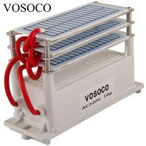 Image 1 - 18 g/h gerador de ozônio portátil ozonizador purificador de água purificador ar esterilizador tratamento longa vida formaldeído remoção 220 v 110 v