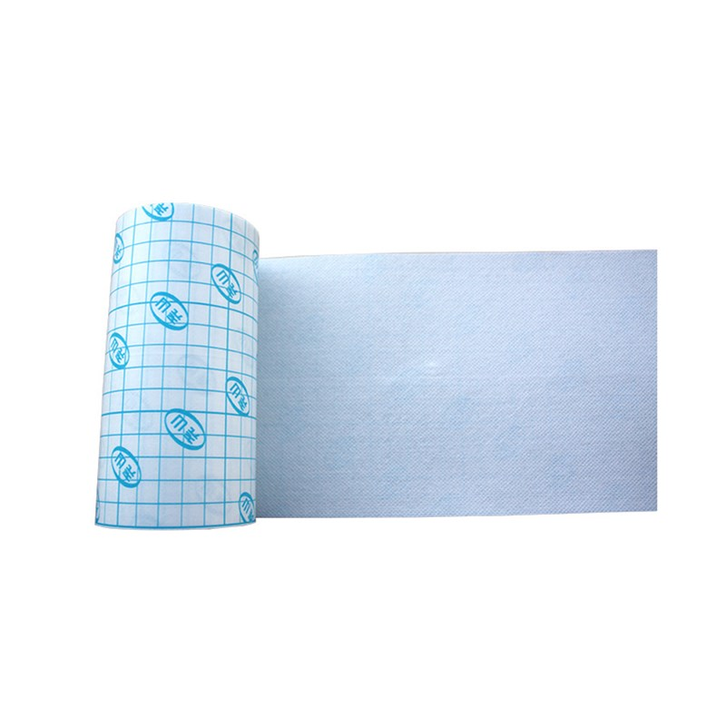 1 Roll White Medical Fixation Non-woven Tape Bandage Breathable Adhesive Wound Dressing Square Grid Design Easy To Cut