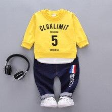 2018 Children Boys Girls Clothes Autumn Kids T-shirt Pants 2Pcs Sets Baby Active Clothing Suits Toddler Tracksuits недорого