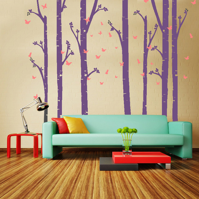 Huge Removable Birch Tree Erfly Vinyl Wall Art Decals Large Stickers Baby Nursery Bedroom Decoration Home Decor Ll003