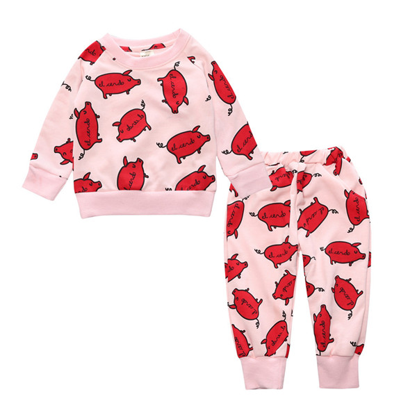 Fashion Baby Clothing Set 2017 Kids T-Shirt+Pants Children Autumn Spring Pullover Toddler Baby Boys Girls Clothes Casual Suit toddler tracksuit autumn baby clothing sets children boys girls fashion brand clothes kids hooded t shirt and pants 2 pcs suits