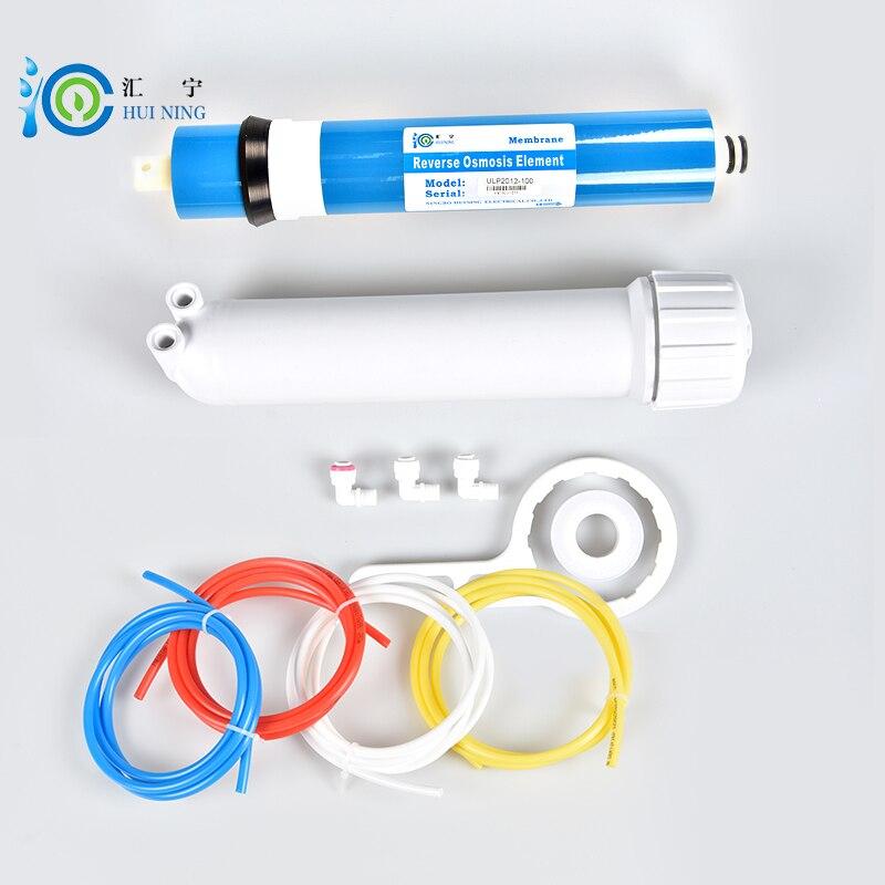 Livraison gratuite purificateur D'eau 100gpd RO Membrane + ULP1812-100 RO Membrane Logement + Filtre à Eau Par Osmose Inverse