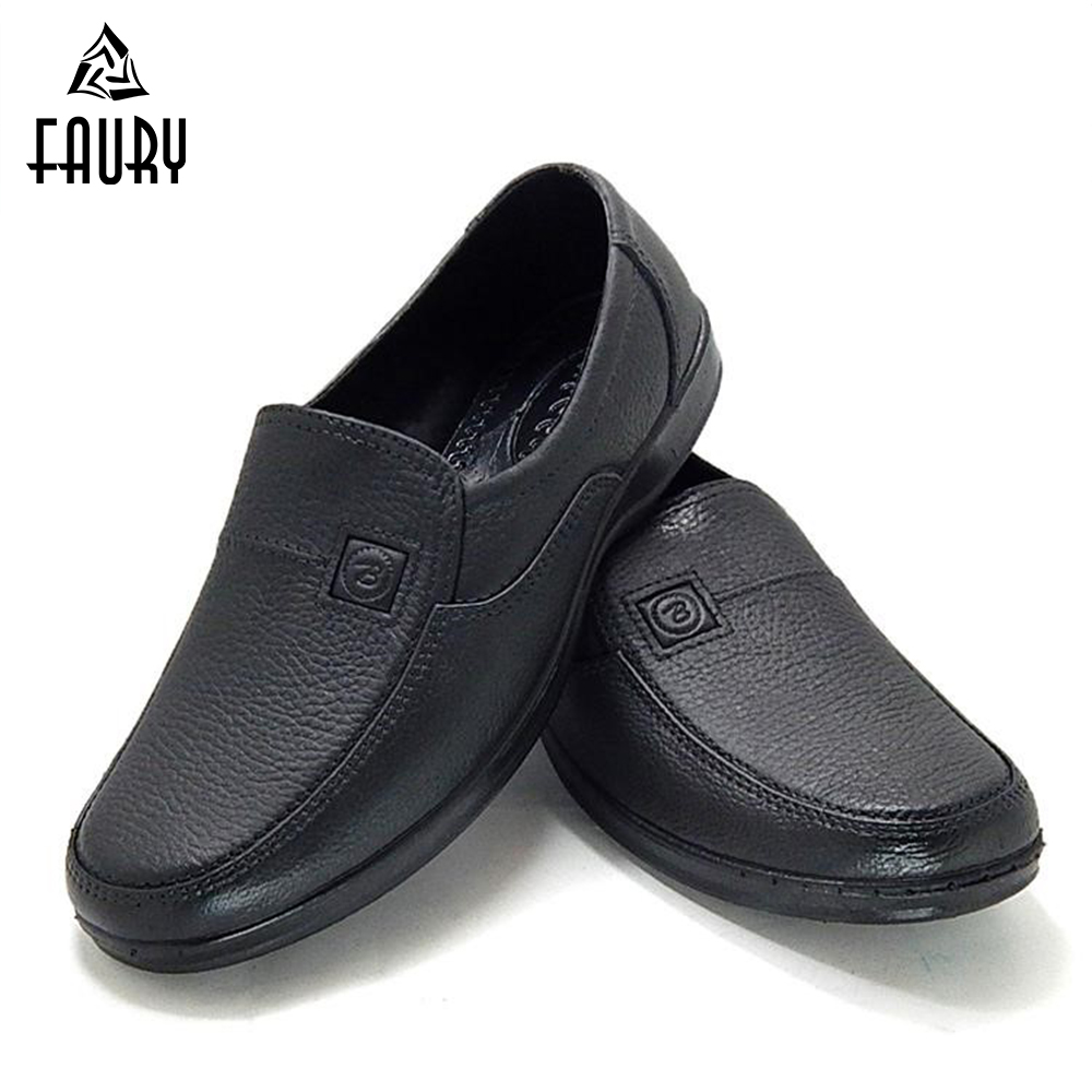 Waterproof Chef Shoes Anti-oil Rubber Shoes Mud Putty Proof Labor Kitchen Imitation Leather Shoes Restaurant Male Wearable Cook