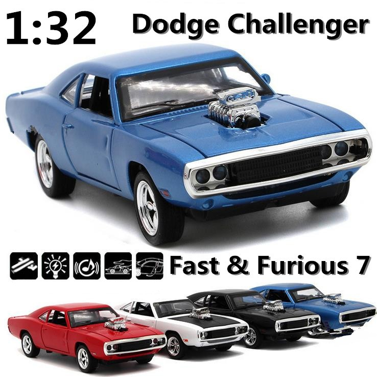 1pcs Set Classic Dodge War Chariot Fast Furious 7 Super Cars 1 32 Alloy Pull Back