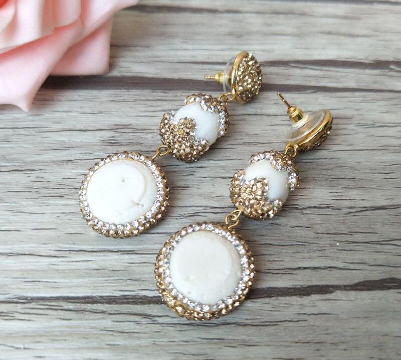 1 Pair Natural White Coral Dangle Earrings d7916c4cd8b8