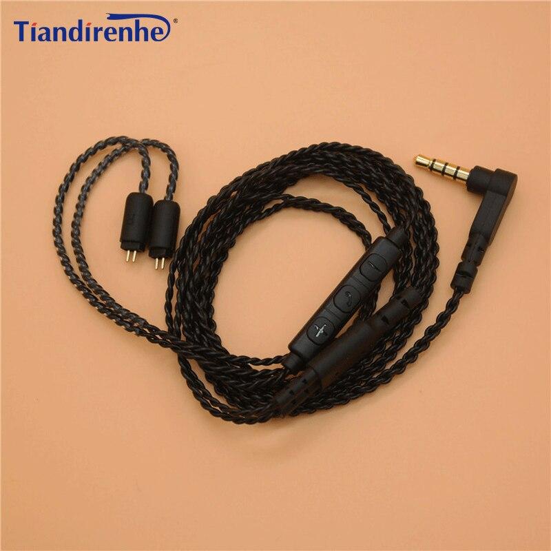 Mis à jour Écouteurs Câble 0.75mm Remplaçable Audio Câbles pour ZS3 ZS4 ZS5 ZS6 ZST ED12 ES3 ZS10 3.5mm pour tf10 tf15 5pro sf3 sf5