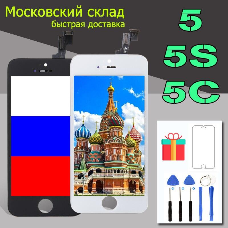 LCD MAISON Pour iPhone 5 5S 5c LCD Module D'affichage Écran Tactile Digitizer Remplacement Verre Clone Téléphone LCD Écran AAA qualité