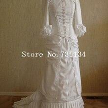 Ренессанс викторианский Готический белый платье королева елизабетань стимпанк Фэнтези платья рококо и Карнавал платья