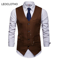 LEOCLOTHO Free Shipping Business Man Formal Vest Blazers Suits For Formal Occasion Wedding Ceremony
