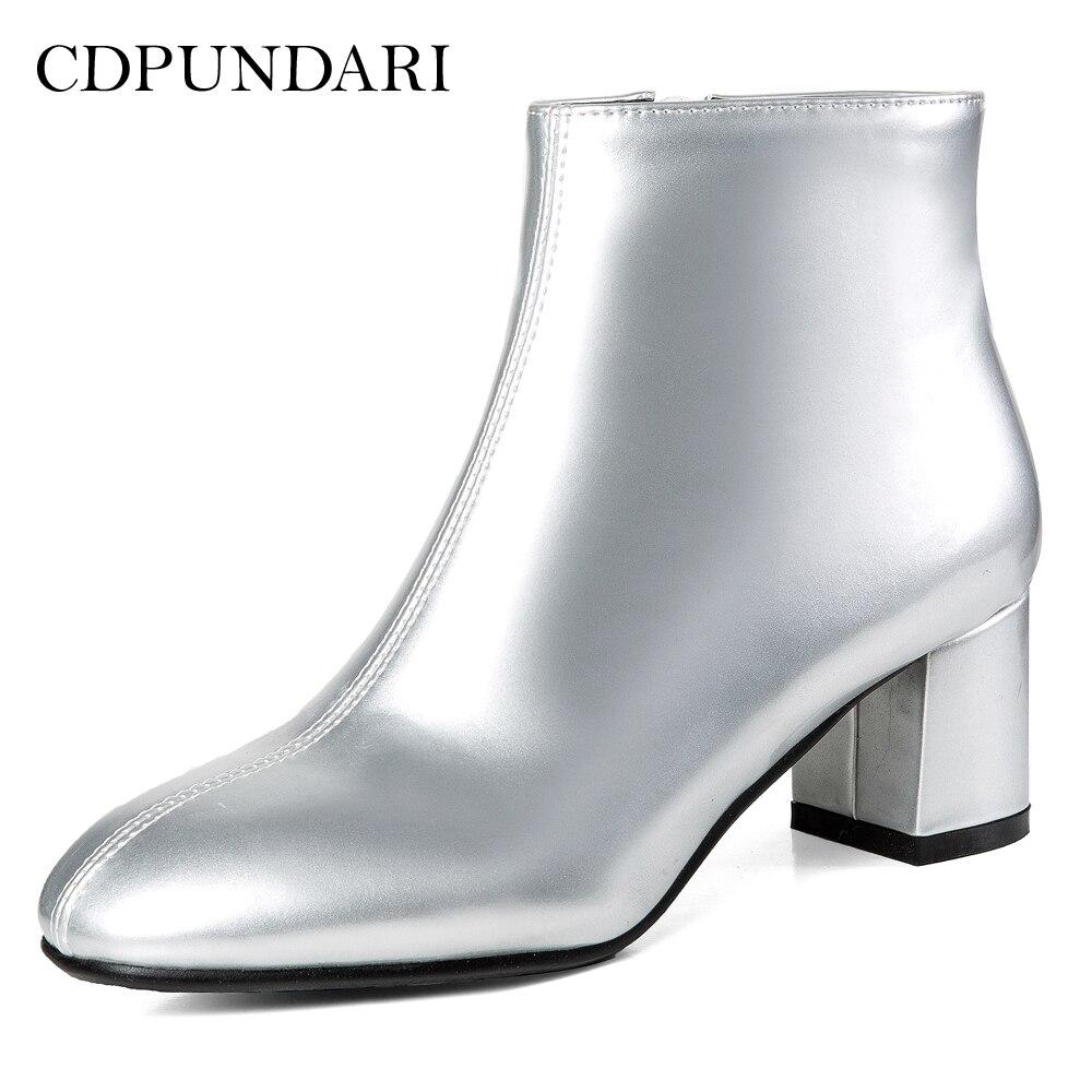 New Kopen Goedkoop CDPUNDARI Goud Zilver Ankle Laarzen Voor Vrouwen &DR64