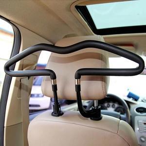 Image 1 - VODOOL PU נירוסטה מתכת אוטומטי רכב בגדי משענת ראש קולב מעיל מעיל חליפת בעל מתלה רכב פנים אביזרי קליפ