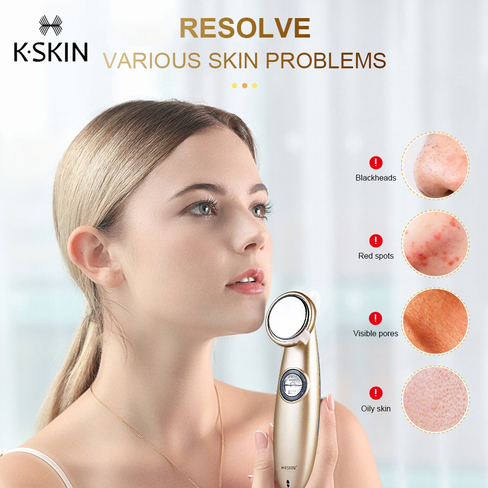 K SKIN KD9930 Facial Thermostat Beauty Introduction Instrument Beauty Device Face Cleansing Massager for Women Facial Skin Care
