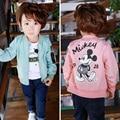 2017 Spring Autumn Jackets for Boy Coat Jacket Boy's Windbreaker Winter Jacket Mickey Print Kids Children Jacket