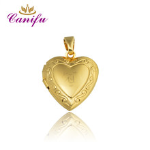 Canifu New arrival Gold Color Heart locket Pendant No Necklace Allah Muslim Pendants factory price 80317(China)