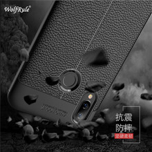 hot deal buy wolfrule huawei p smart plus cover shockproof luxury leather tpu back case for huawei nova 3i phone case huawei p smart plus