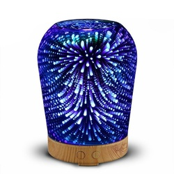Air Humidifier Aroma Diffuser Aromatherapy Essential Oil Ultrasonic Mist Maker Diffuser with Colorful Night Lamp for home