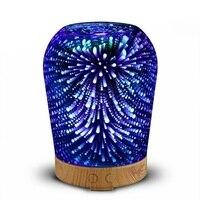 Umidificador de ar aroma difusor aromaterapia óleo essencial ultra sônico névoa maker difusor com lâmpada colorida noite para casa|Umidificadores| |  -