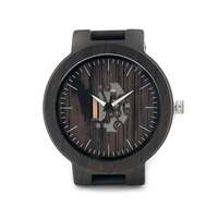 BOBO BIRD Luxury Watch Men Famous Brand Luminous Wood Watches Movement Genuine Leather Wristwatch Relogios