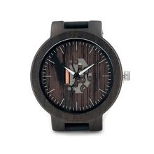 Luxury Brand BOBO BIRD Men Watch Luminous Wooden Watches Genuine Leather Band Wristwatch relogio masculino B-H30