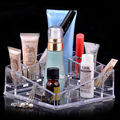 European Acrylic Transparent Makeup Cosmetic Organizer Crystal Plastic Lipstick Perfume Sample Desktop Storage Box Fashion Gift