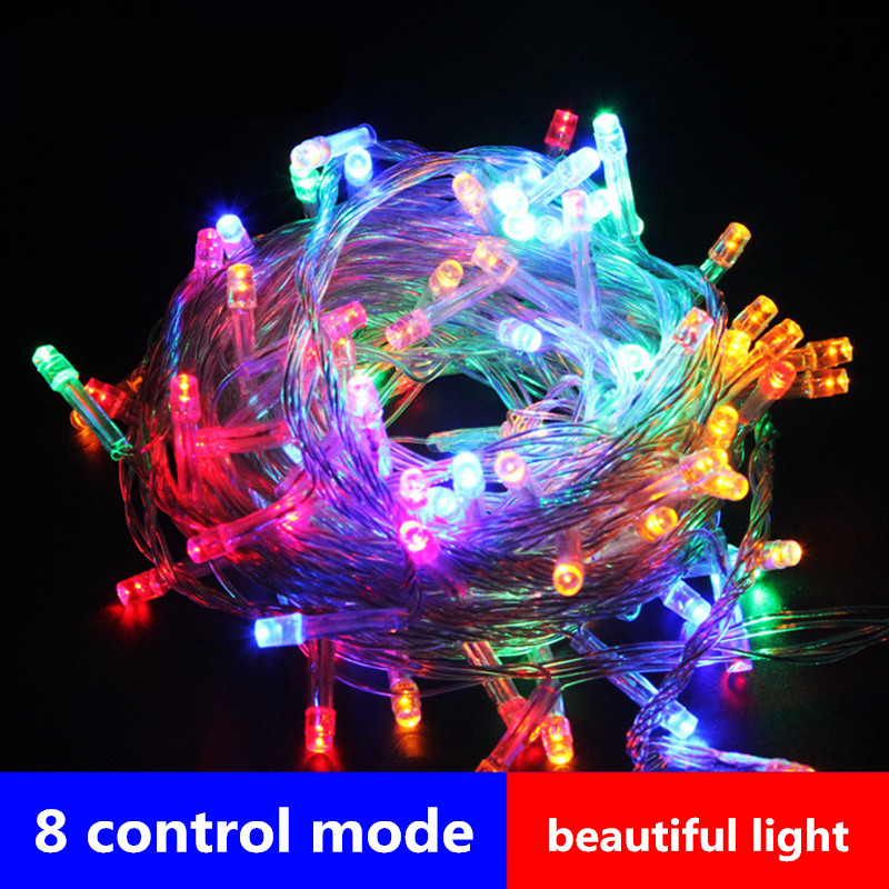 8 Mode LED Garland String Light 5M 10M 20M 30M 50M 100M 220V 110V Fairy Lights Outdoor Christmas Wedding Party Holiday Light