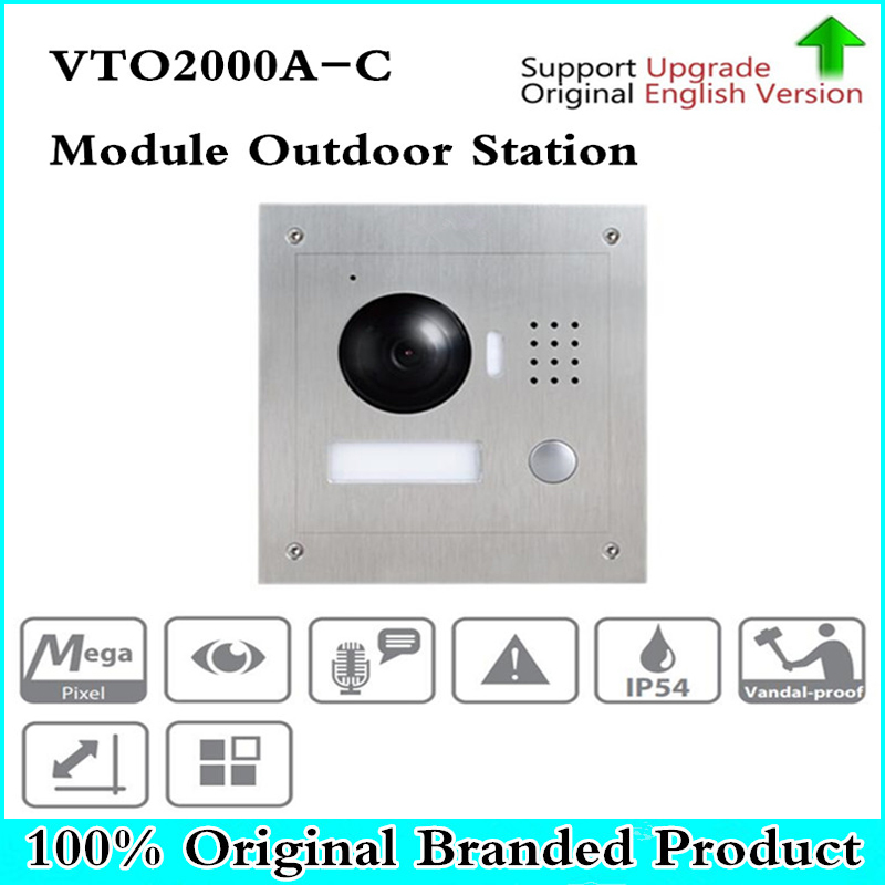 DH VTO2000A-C IP Metal Villa Module Outdoor Station intercom Video Door Phone DH POE P2P Metal Villa Outdoor Station original 7 inch touch screen brand vth1510ch color monitor with vto2000a outdoor ip metal villa outdoor video intercom sysytem