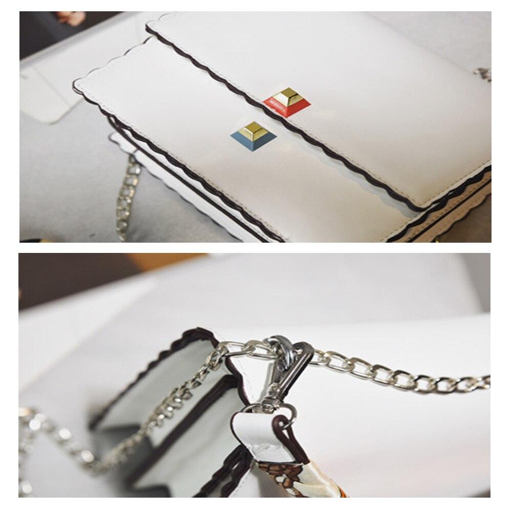 Kadın çanta Moda katmanlı Atkılar Zincir çanta Yüksek Kalite - Çanta - Fotoğraf 6
