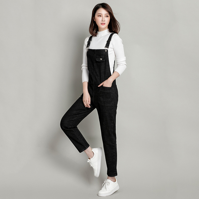 New 2018 Skinny   Jeans   Women Denim Pants Holes Destroyed Knee Pencil Pants Casual Trousers Black White Stretch Ripped 1M001-016