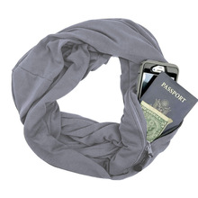New 2018 Soft Zipper Pocket Loop Scarf Women Fashion