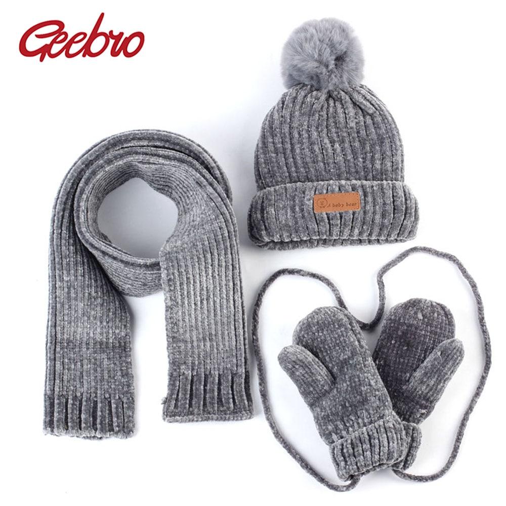 Girls Hat Scarf /& Gloves Set