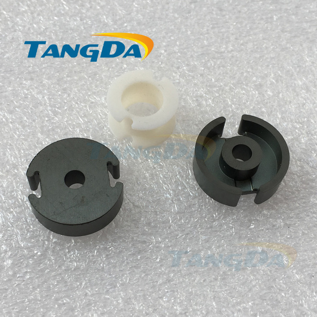 Tangda GU Type GU22 P22 soft ferrite core magnetic core + skeleton  for transformer PC40 high frequency A.