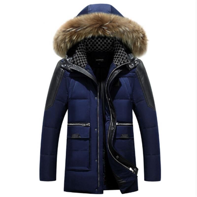 ᗐAILOOGE Blanc Canard Manteau D hiver Veste Hommes 2017 Hommes ... 24377247abf