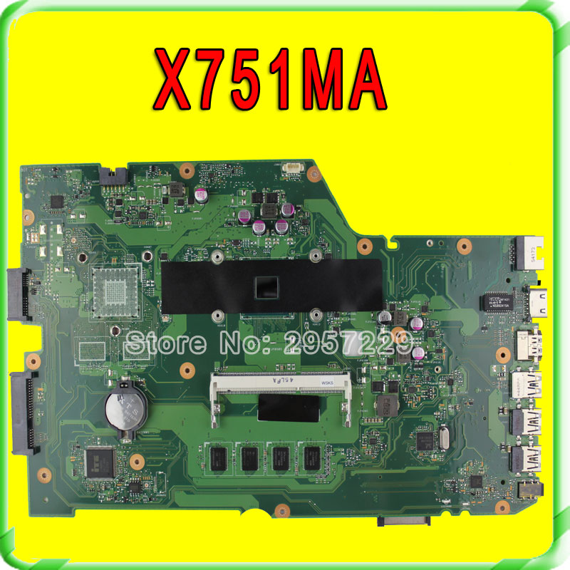 R752MA X751MA Motherboard For Asus N2830 Processor  X751MD REV2.0 Mainboard Tested ok