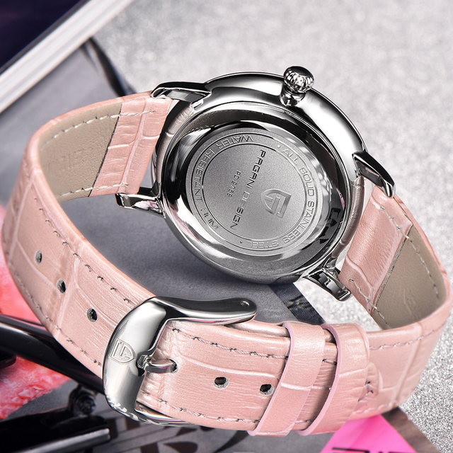 PAGANI DESIGN Fashion Casual Women Quartz Watch Automatic Date Pink Elegant Case Leather Waterproof Lady Watch Relogio Feminino