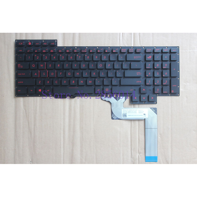 все цены на English keyboard For Asus G751 G751JM G751JT G751JY 0KNB0-E601RU00 ASM14C33SUJ442 US laptop keyboard онлайн