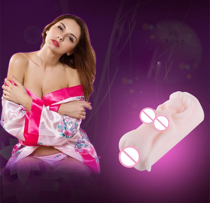 Buy 2018 Hot High Quality TPR 4D Male Masturbators Realistic Vagina Masturbation Sex Toy Men L911